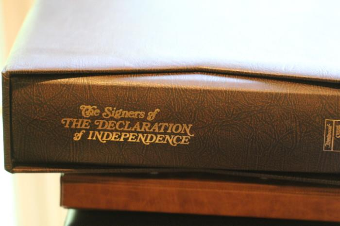 Signers of the Declaration of Independence first day cover collection