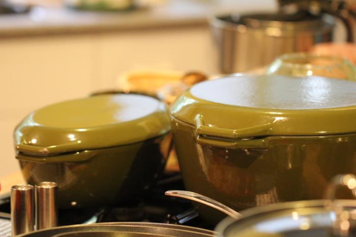 enamel/cast iron cookware in Avocado Green from Copco of Denmark