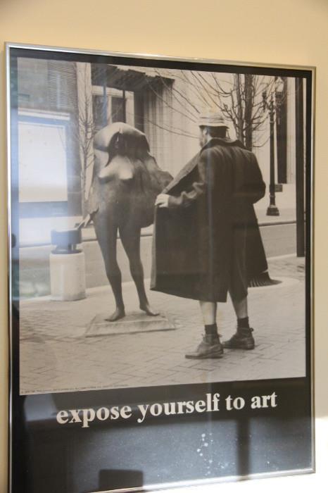 lots of fun vintage art posters in this sale