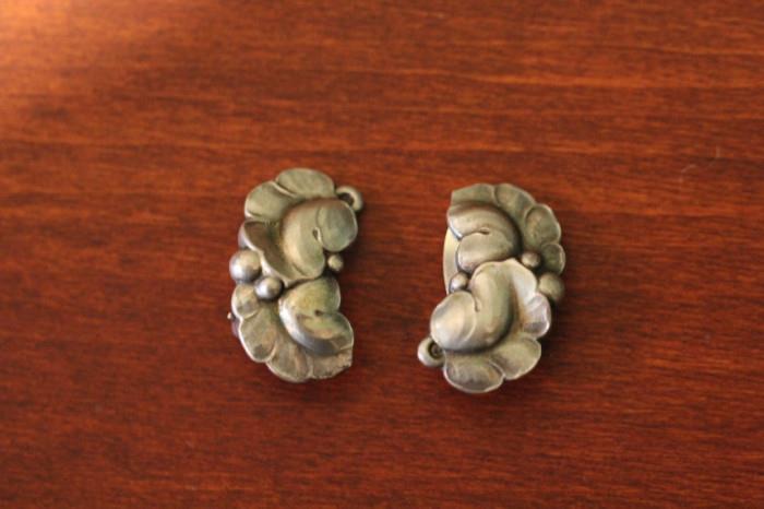 Georg Jensen clip earrings from Denmark