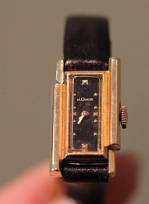 Vintage ladies' Lecoultre wristwatch, 14k gold case