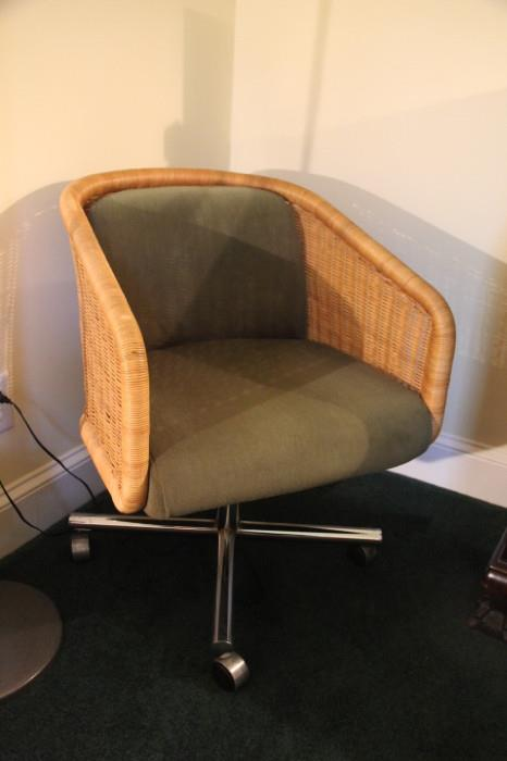 Pair of Chromcraft office chairs from 1960s - 1970s