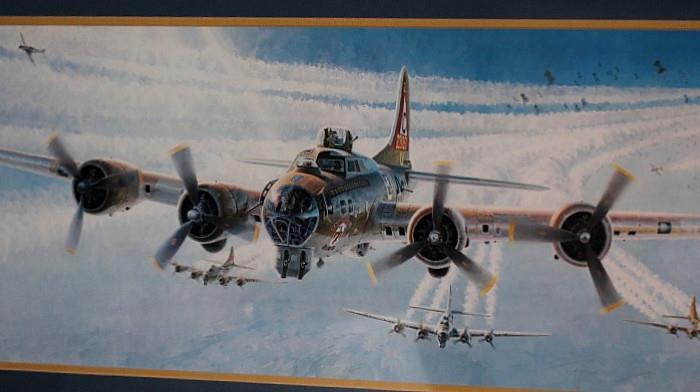 Framed Boeing artwork