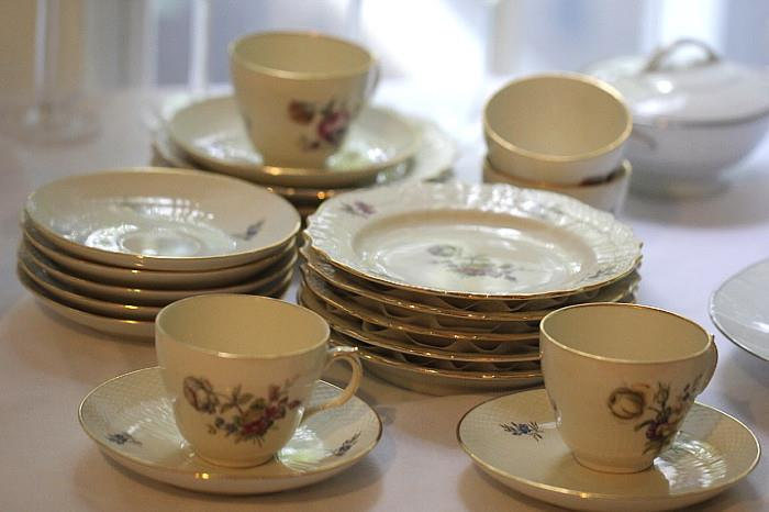 Royal Copenhagen floral china set