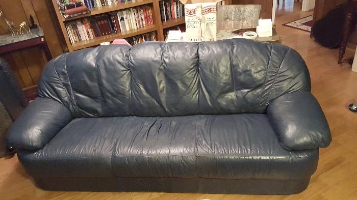 navy sofa to match the club chair