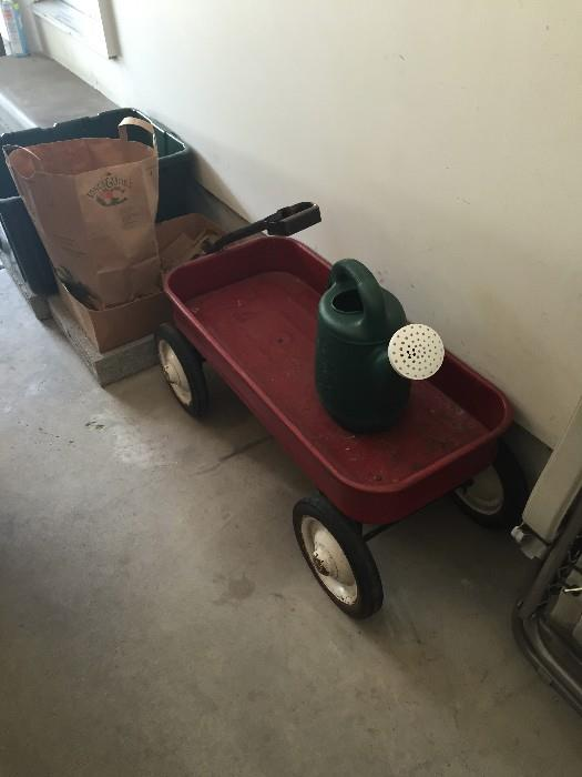 RED WAGON CART