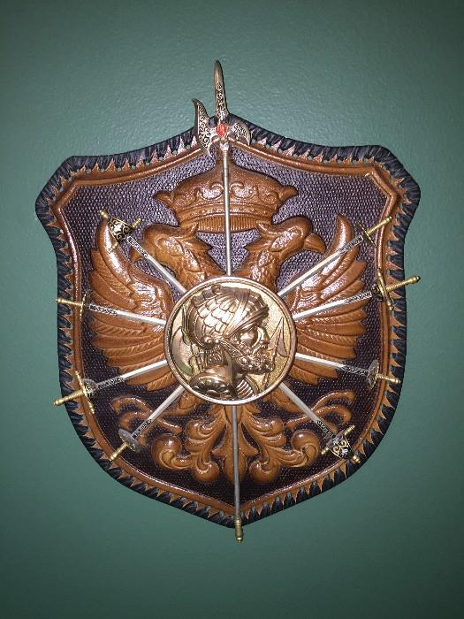 MEDIEVAL KNIGHT AND SWORDS WALL HANGING