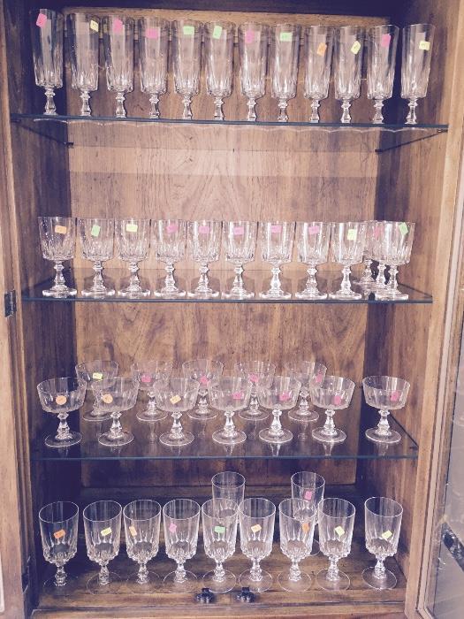 BEAUTIFUL 24% LEAD CRYSTAL GLASSES