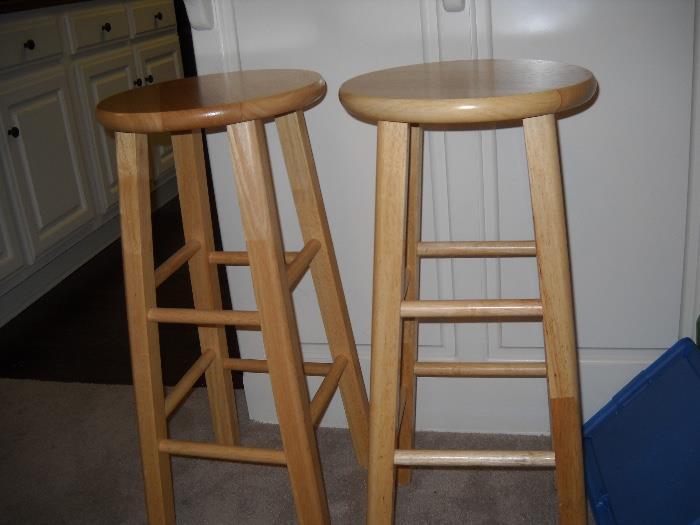 two bar stools.