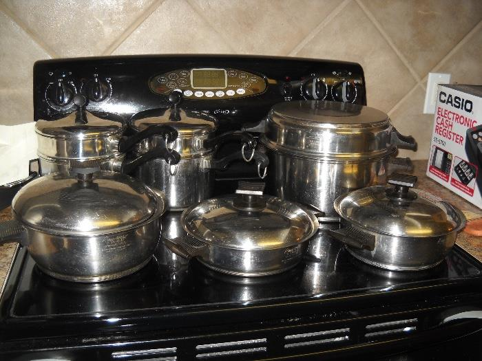 vintage stainless cookware