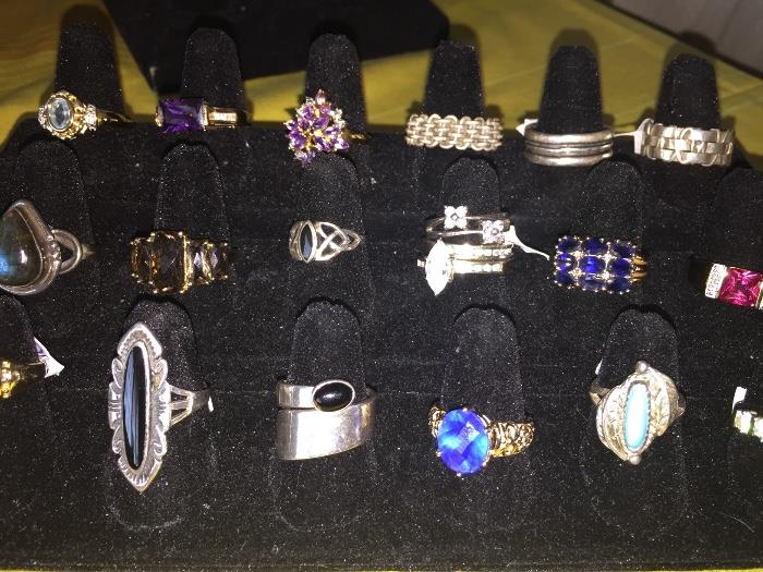 STERLING SILVER RINGS WITH GEMSTONES