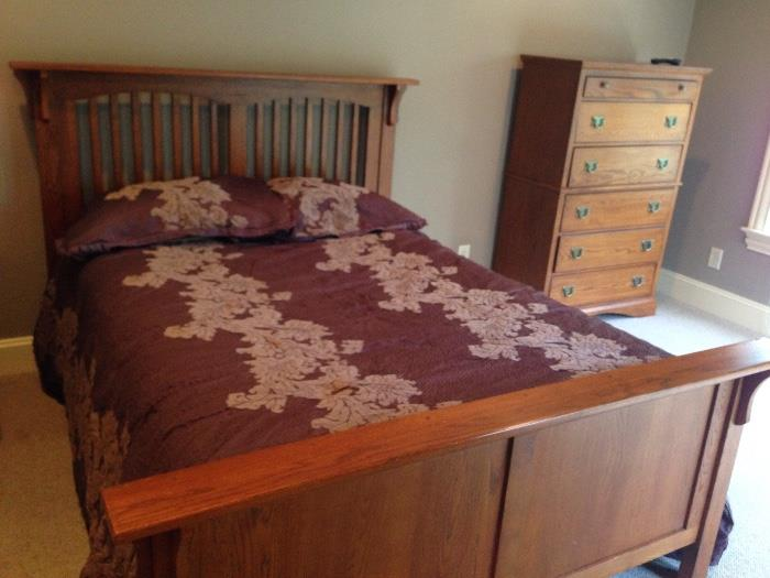 Queen size bed by Lexington (there is also a matching nightstand)