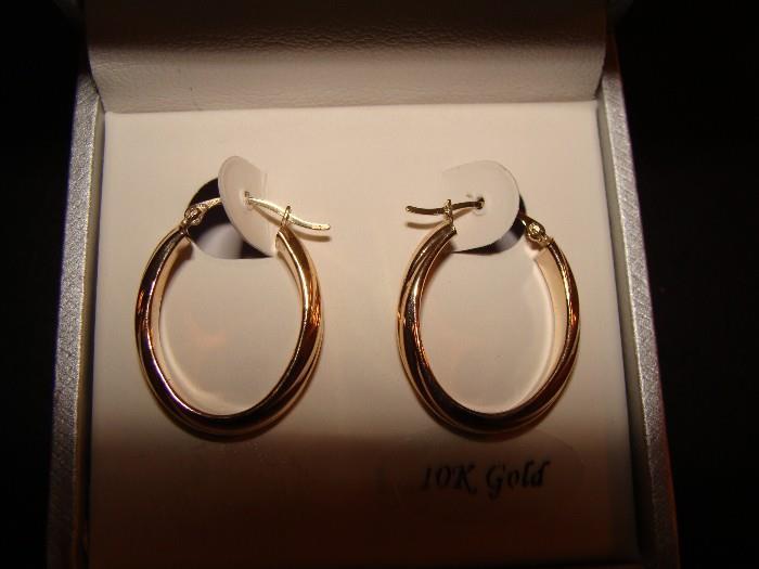 Gold Hoop Earrings 10K