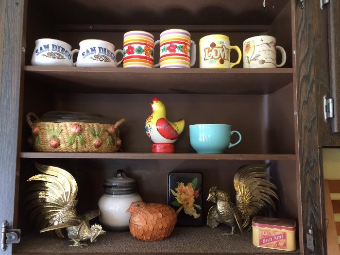 Vintage Brass Roosters & More
