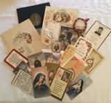 Religious Items Including Pocket Bibles, Remembrance Cards, Rosaries & More
