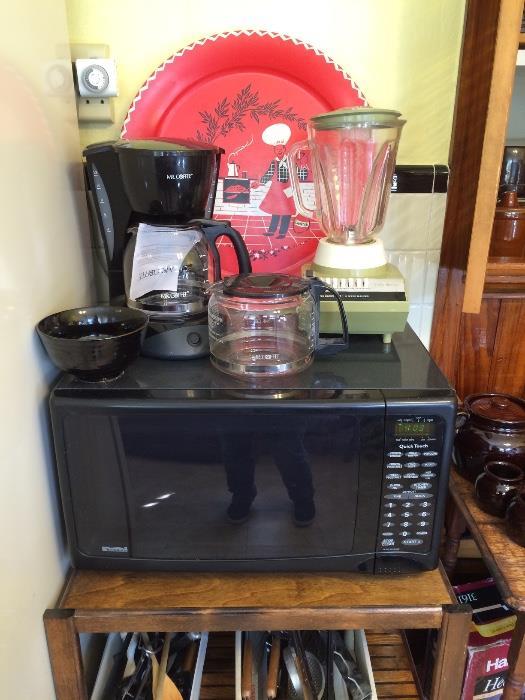 Microwave (Works!), Blender & More