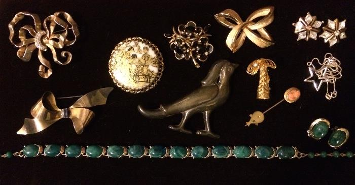 Signed Designer Pieces, Mexican Silver, Sterling Silver, & More