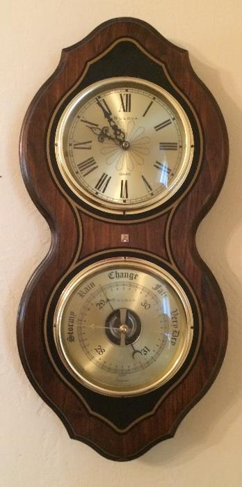 Bulova Emerson Anniversary Award Clock - Barometer Combo