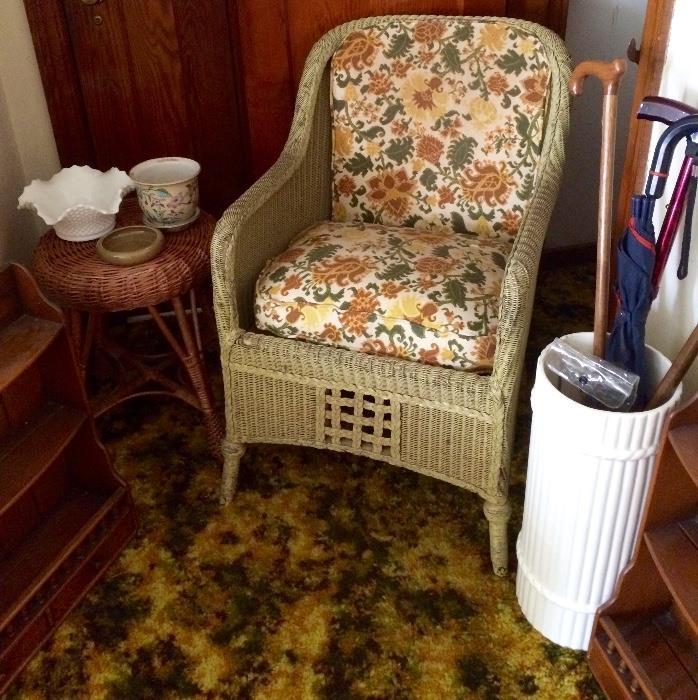 Wicker Furniture, Umbrella Stand, Canes & More