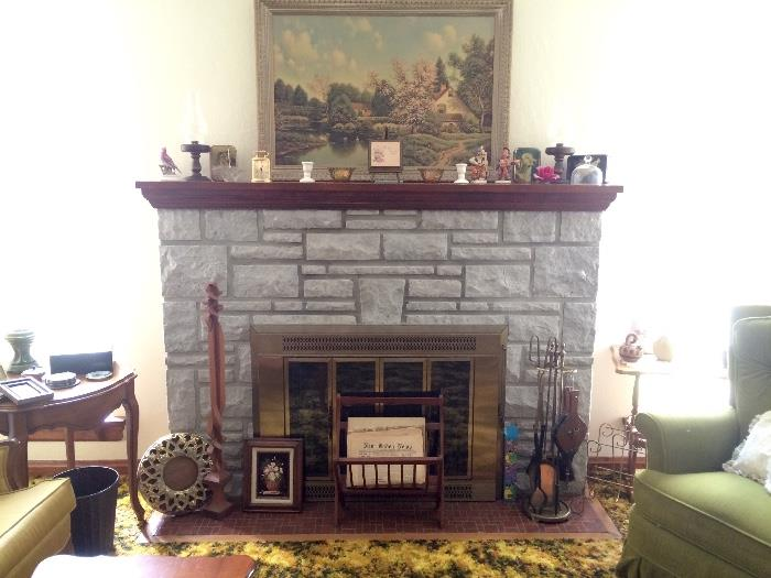 View of Fireplace Mantle