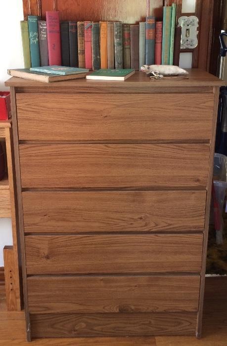 Pressboard Dresser, Vintage Books & More