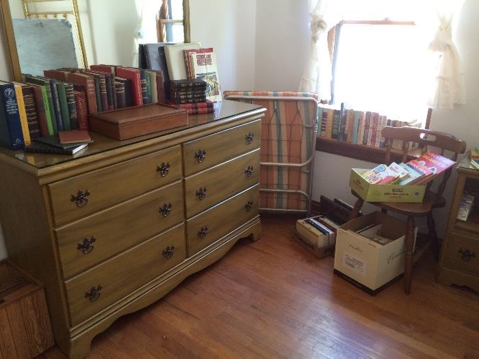 Sumter Dresser with Mirror, Cot, Books & More