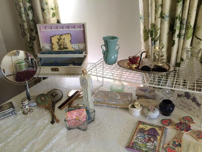 Vintage Jewelry Boxes, Perfume Bottles & More