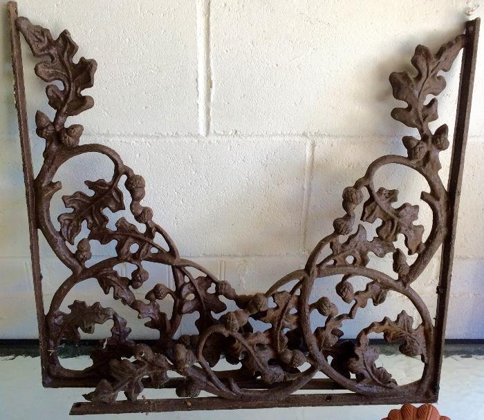 Cast Iron Corbels, Acorn Design