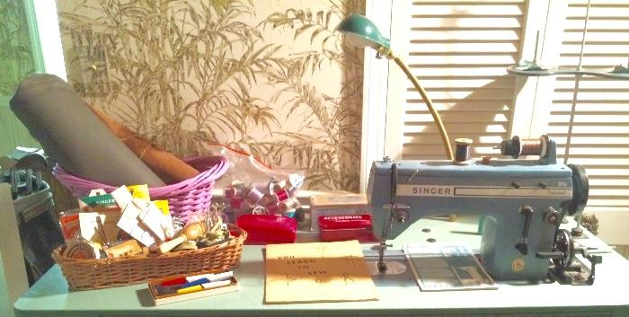 Sewing Notions & Industrial Singer Sewing Machine