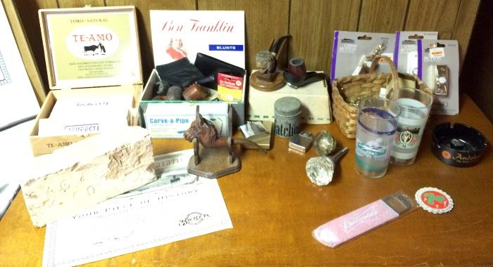 Carved Smoking Pipes & More