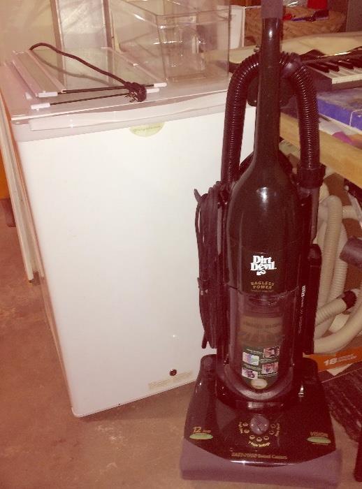 Mini Fridge (Works!) & Dirt Devil Vacuum (Works Really Well!)