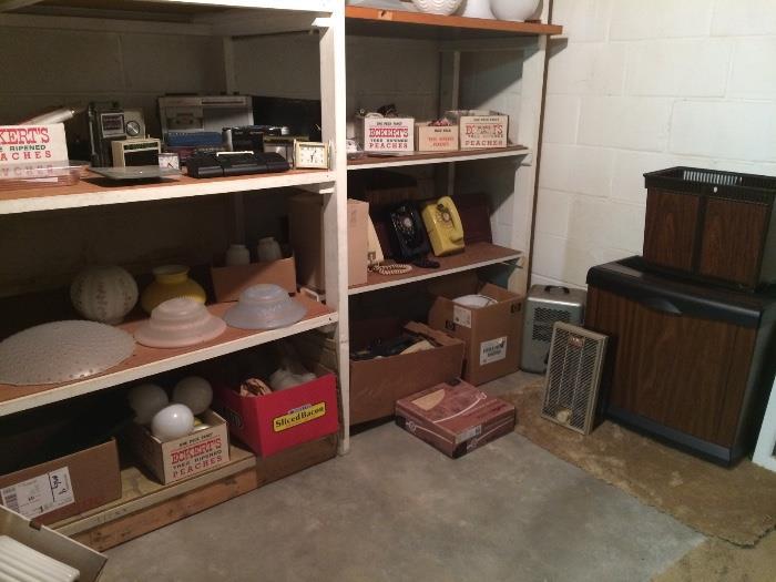 Vintage Lamp Shades, Phones, Large Humidifier & More