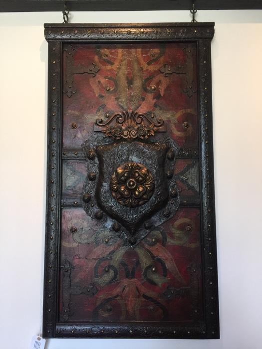 ~ Custom 3pc Artwork with Crown Moulding Header by Steve Taft. Center 3.5' x 5'/Outer 2.5' x 3'/Header 8.5' Retail $5625.00 Estate $4200.00