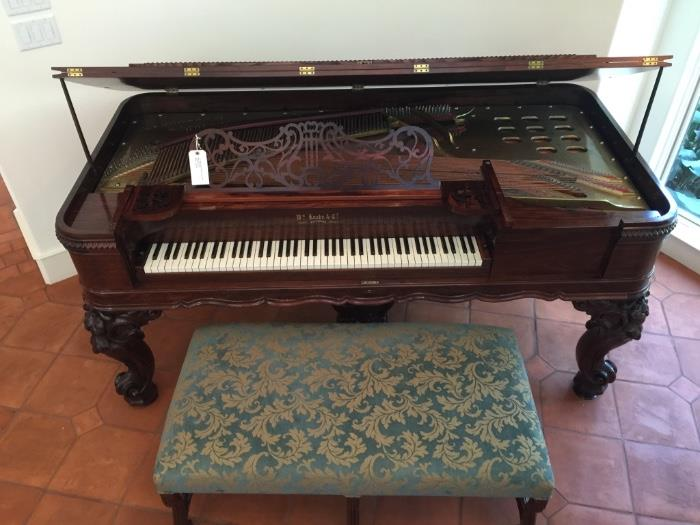 ~ An 1864 Antique Knabe Square Grand Piano with bench Estate $10.000.00