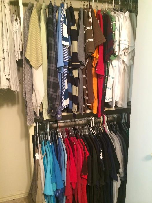 Great selections of men's clothes