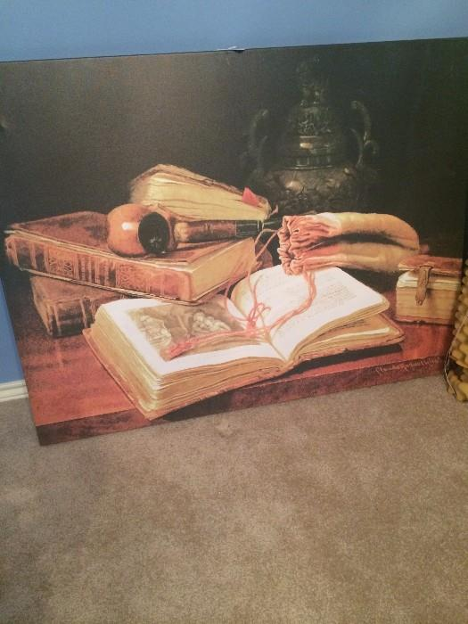 Large book canvas