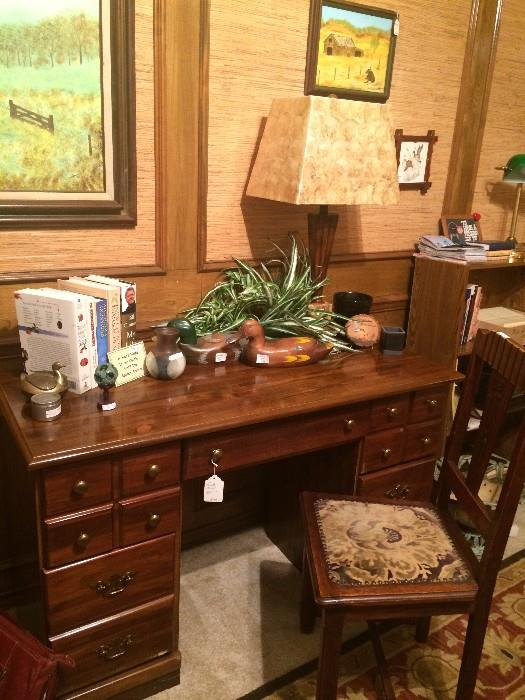 Six drawer desk