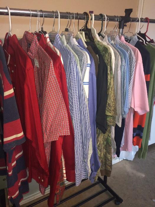 Lots of very nice men's shirts