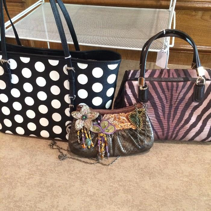 Michael Kors & Coach purses;  Mary Frances beaded bag