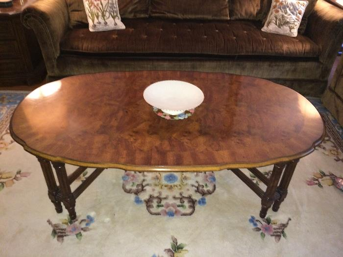 Bookmatched coffee table