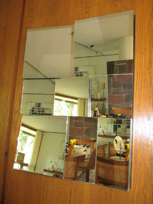 """Vintage Neal Small """"Slopes"""" mirror"""