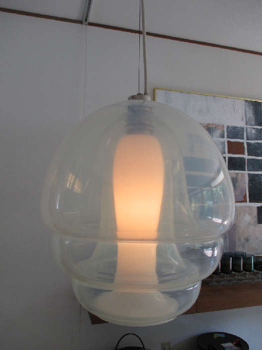 Vintage hanging glass lamp by Carlo Nason for Mazzega Italy
