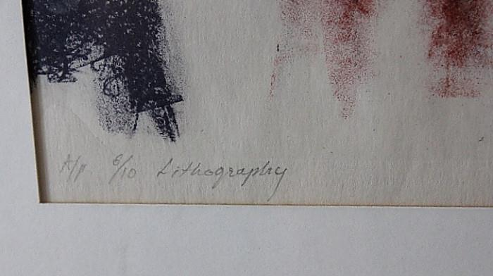 Artist Proof Lithography by Doddamani
