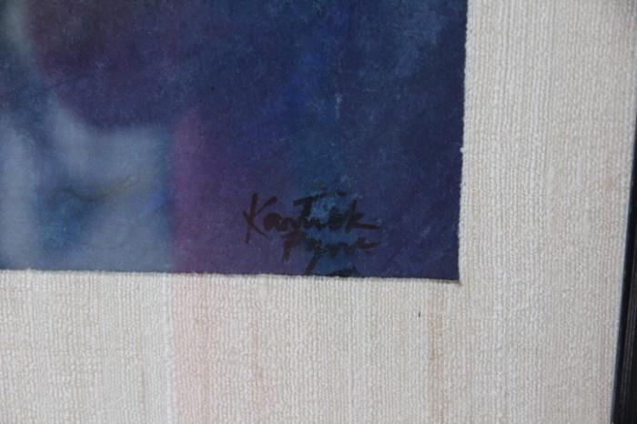signature of Kartick Pyne