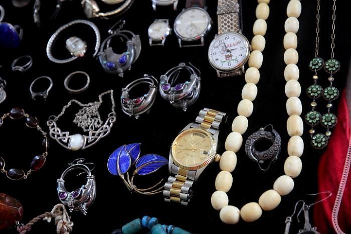 enamel 925S silver brooch (Norway), Rolex watch, vintage watches, silver jewelry