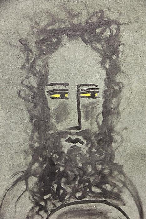 """Stunning original artwork - """"Yellow Eyes"""" by Indian Dalit Savi Sawarkar"""