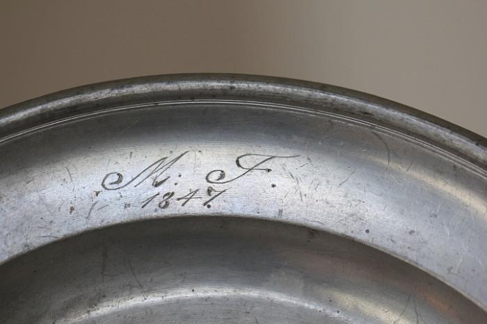 antique pewter, 1847