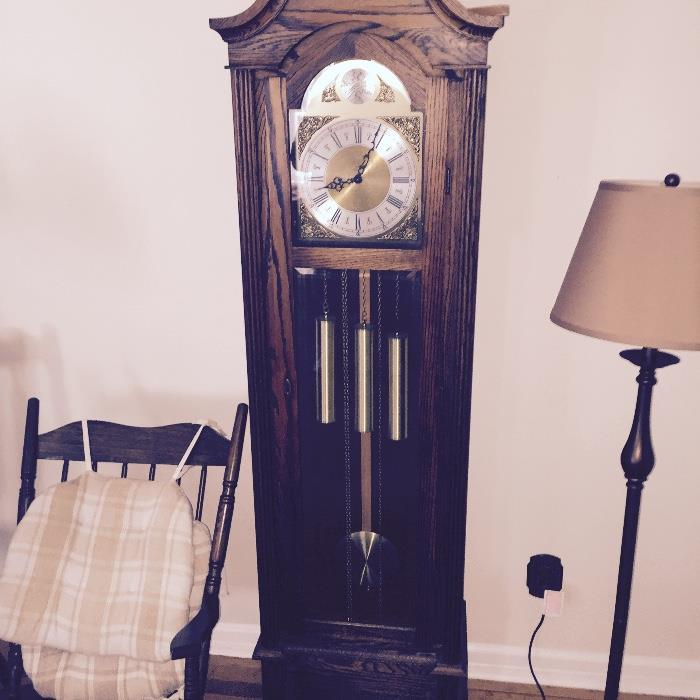 Hentschel Grandfather clock High Quality w/ all the paperwork made in West Dennis Cape Cod