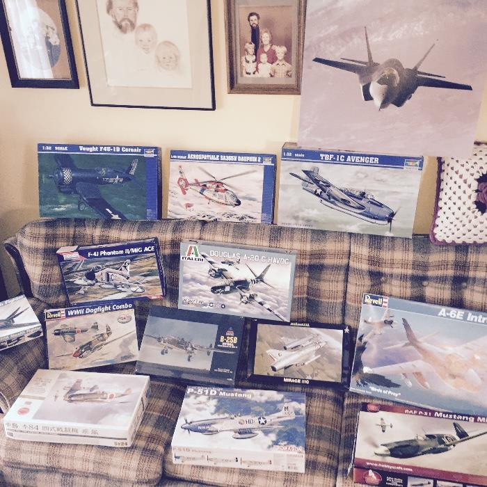 60+ VINTAGE Model Airplanes all in original boxes and most all sealed