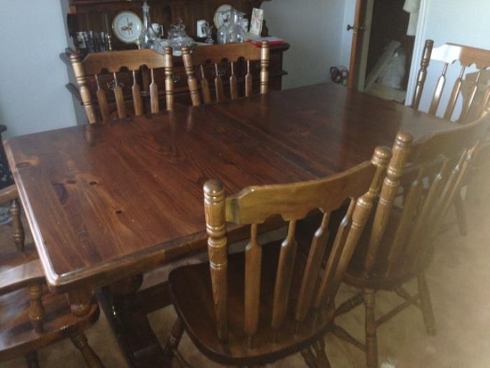 Dining Room Set here is the table with 6 matching chairs priced to sell